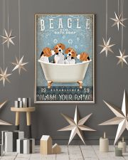 BEAGLE PUPPIES SITTING ON BATH SOAP 11x17 Poster lifestyle-holiday-poster-1