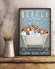 BEAGLE PUPPIES SITTING ON BATH SOAP 11x17 Poster lifestyle-poster-3