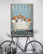 BEAGLE PUPPIES SITTING ON BATH SOAP 11x17 Poster lifestyle-poster-7