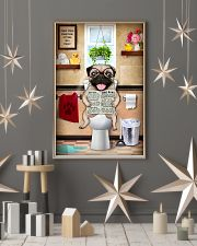 PUG PUPPY SITTING ON A TOILET 11x17 Poster lifestyle-holiday-poster-1