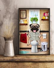 PUG PUPPY SITTING ON A TOILET 11x17 Poster lifestyle-poster-3