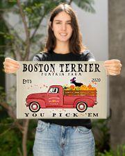 BOSTON TERRIER RED TRUCK PUMPKIN FARM 17x11 Poster poster-landscape-17x11-lifestyle-19