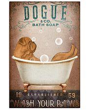 DOGUE DE BORDEAUX DOG ON A BATHROOM 11x17 Poster front