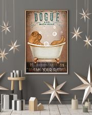 DOGUE DE BORDEAUX DOG ON A BATHROOM 11x17 Poster lifestyle-holiday-poster-1