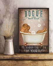 DOGUE DE BORDEAUX DOG ON A BATHROOM 11x17 Poster lifestyle-poster-3