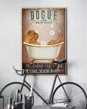 DOGUE DE BORDEAUX DOG ON A BATHROOM 11x17 Poster lifestyle-poster-7