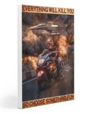 Poster For Biker Gallery Wrapped Canvas Prints tile