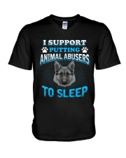 I Support Putting Animal Abusers To Sleep V-Neck T-Shirt thumbnail