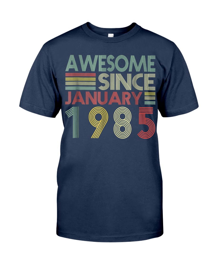 January 1985 T-Shirt 34 Years Old 34th Birthday De Classic T-Shirt