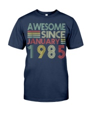 January 1985 T-Shirt 34 Years Old 34th Birthday De Classic T-Shirt front