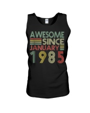 January 1985 T-Shirt 34 Years Old 34th Birthday De Unisex Tank thumbnail