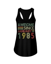 January 1985 T-Shirt 34 Years Old 34th Birthday De Ladies Flowy Tank thumbnail