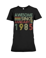 January 1985 T-Shirt 34 Years Old 34th Birthday De Premium Fit Ladies Tee thumbnail
