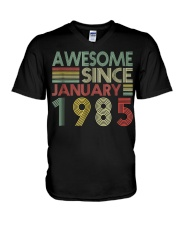 January 1985 T-Shirt 34 Years Old 34th Birthday De V-Neck T-Shirt tile