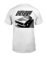 1969 Plymouth Barracuda Savage GT Tee Premium Fit Mens Tee back