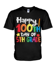 5TH GRADE 100 DAYS V-Neck T-Shirt thumbnail