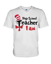 HIGH SCHOOL TEACHER I AM V-Neck T-Shirt thumbnail