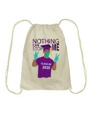 PURPLE - NOTHING CAN STOP ME Drawstring Bag thumbnail