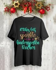KINDERGARTEN TEACHER Classic T-Shirt lifestyle-holiday-crewneck-front-2