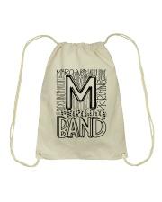 MARCHING BAND TYPOGRAPHY Drawstring Bag thumbnail
