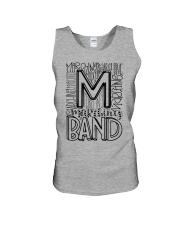 MARCHING BAND TYPOGRAPHY Unisex Tank thumbnail