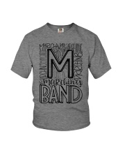 MARCHING BAND TYPOGRAPHY Youth T-Shirt thumbnail
