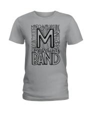 MARCHING BAND TYPOGRAPHY Ladies T-Shirt thumbnail