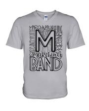 MARCHING BAND TYPOGRAPHY V-Neck T-Shirt thumbnail