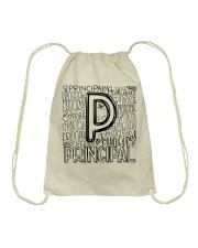 PRINCIPAL TYPO DESIGN Drawstring Bag thumbnail