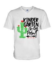 KINDERGARTEN IS ON POINT V-Neck T-Shirt thumbnail