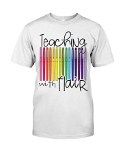 TEACHING WITH FLAIR Classic T-Shirt front