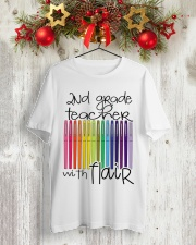 2ND GRADE TEACHER WITH FLAIR Classic T-Shirt lifestyle-holiday-crewneck-front-2