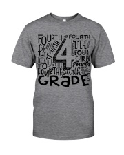 FOURTH GRADE TYPO Classic T-Shirt front