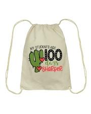 MY STUDENTS ARE 100 DAYS SHARPER Drawstring Bag thumbnail