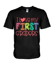1ST GRADERS - I LOVE YOU V-Neck T-Shirt thumbnail