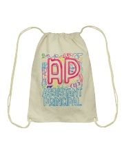 ASSISTANT PRINCIPAL TYPOGRAPHIC  Drawstring Bag thumbnail