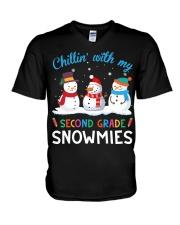 SECOND GRADE SNOWMIES V-Neck T-Shirt thumbnail