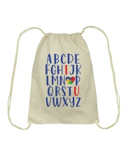 ABC I LOVE U Drawstring Bag thumbnail