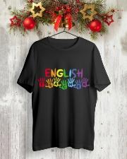 ENGLISH TEACHER DESIGN Classic T-Shirt lifestyle-holiday-crewneck-front-2