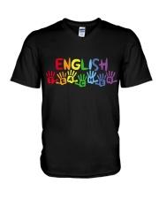 ENGLISH TEACHER DESIGN V-Neck T-Shirt thumbnail