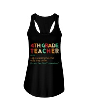 4TH GRADE TEACHER Ladies Flowy Tank thumbnail