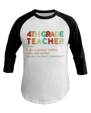 4TH GRADE TEACHER Baseball Tee thumbnail