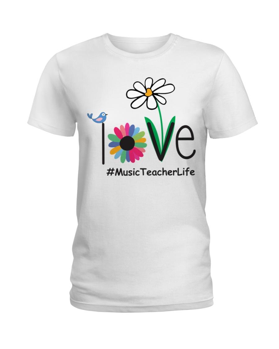 LOVE MUSIC TEACHER LIFE Ladies T-Shirt