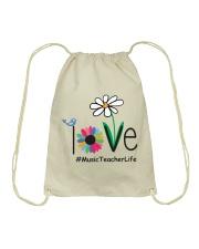 LOVE MUSIC TEACHER LIFE Drawstring Bag thumbnail
