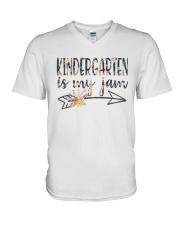 KINDERGARTEN IS MY JAM V-Neck T-Shirt thumbnail
