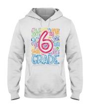 SIXTH GRADE TYPOGRAPHIC  Hooded Sweatshirt thumbnail