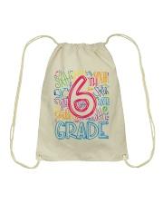SIXTH GRADE TYPOGRAPHIC  Drawstring Bag thumbnail