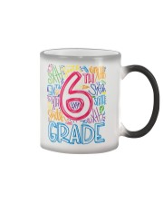 SIXTH GRADE TYPOGRAPHIC  Color Changing Mug thumbnail