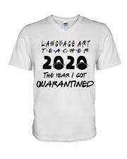 LANGUAGE ART V-Neck T-Shirt thumbnail