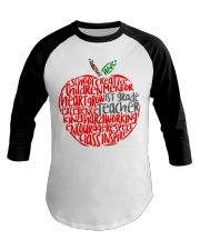1ST GRADE APPLE Baseball Tee thumbnail